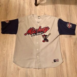 VINTAGE MICKEY MOUSE ALL STARS BASEBALL JERSEY